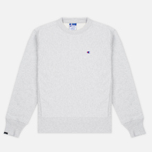 Мужская толстовка Champion Reverse Weave x Beams Zip Crew Grey Marl фото- 0