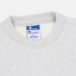 Мужская толстовка Champion Reverse Weave x Beams Zip Crew Grey Marl фото- 1