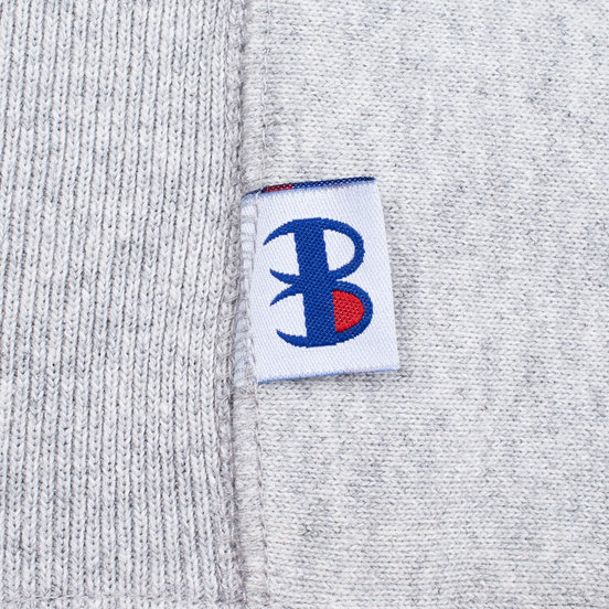 Мужская толстовка Champion Reverse Weave x Beams Zip Crew Grey Marl