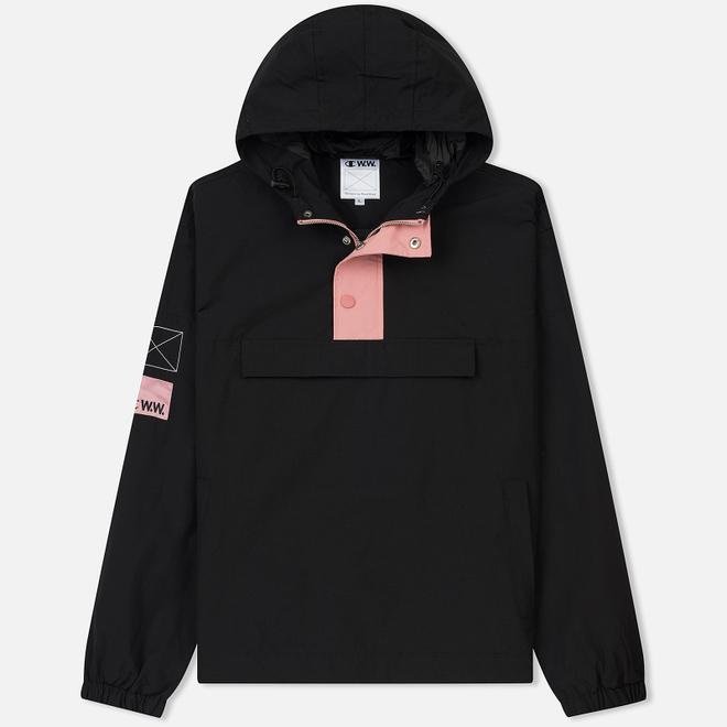 Мужская куртка анорак Champion Reverse Weave x Wood Wood Niko Hooded Black