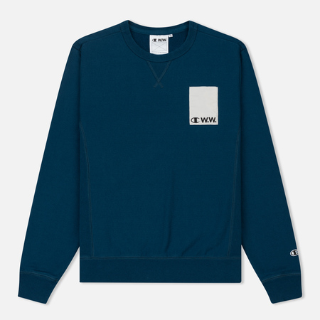 Мужская толстовка Champion Reverse Weave x Wood Wood Hugo Navy