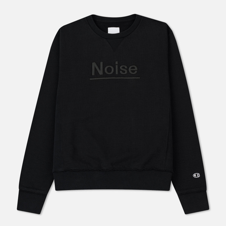 Мужская толстовка Champion Reverse Weave x Wood Wood Noise Crew Neck Black