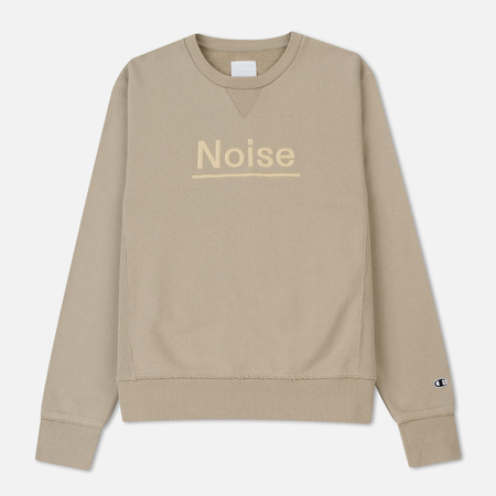 Мужская толстовка Champion Reverse Weave x Wood Wood Noise Crew Neck Taupe
