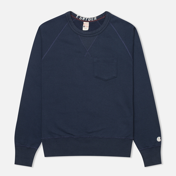 Мужская толстовка Champion x Todd Snyder Fleece Mast Blue