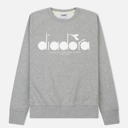 Мужская толстовка Diadora Crew 5palle Light Middle Grey Melange