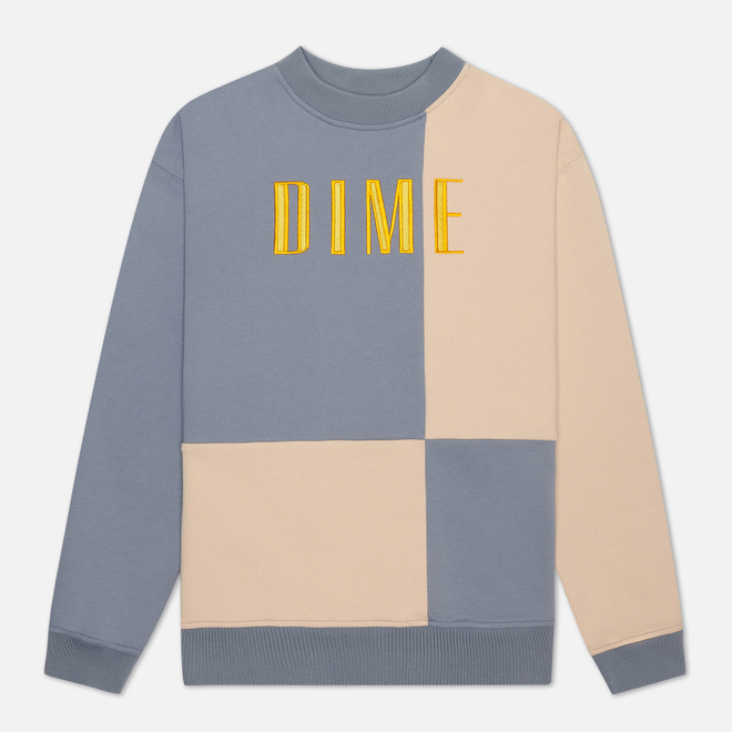 Мужская толстовка Dime Block Terry Crew Neck Light Blue/Cream