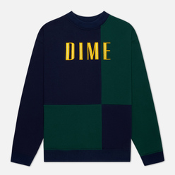 Мужская толстовка Dime Block Terry Crew Neck Navy/Green