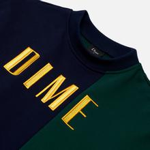 Мужская толстовка Dime Block Terry Crew Neck Navy/Green фото- 1