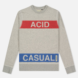 Мужская толстовка Dupe Casual Acid Casual Print/White Melange фото- 0