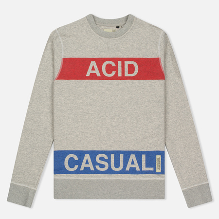 Мужская толстовка Dupe Casual Acid Casual Print/White Melange