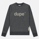 Мужская толстовка Dupe Casual Dupe Logo Print/Black Melange фото- 0