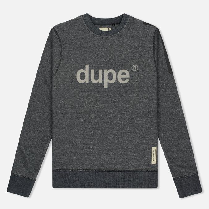 Мужская толстовка Dupe Casual Dupe Logo Print/Black Melange