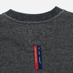 Мужская толстовка Dupe Casual Dupe Logo Print/Black Melange фото- 4