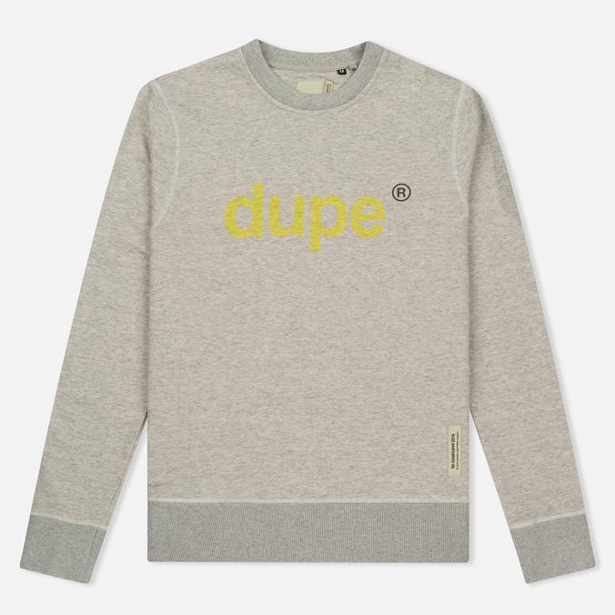 Мужская толстовка Dupe Casual Dupe Logo Print/Grey Melange
