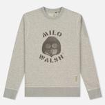 Мужская толстовка Dupe Casual Milo Walsh Print/Grey Melange фото- 0
