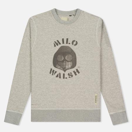 Мужская толстовка Dupe Casual Milo Walsh Print/Grey Melange
