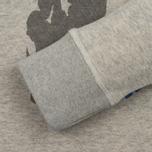 Мужская толстовка Dupe Casual Ultras Dupe V Print/White Melange фото- 2