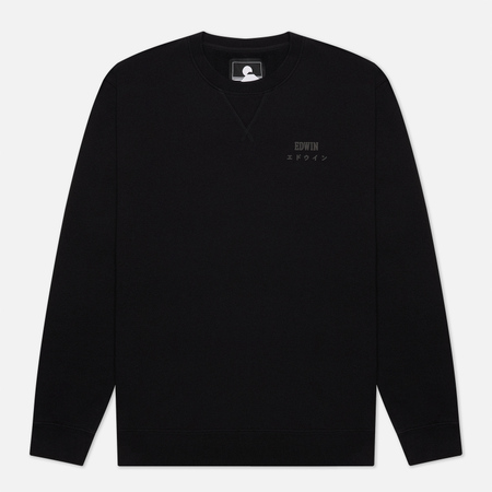 Мужская толстовка Edwin Base Crew Heavy Felpa Black