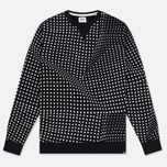 Мужская толстовка Edwin Classic Crew Felpa Americana Black Factured Dot фото- 0
