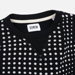 Мужская толстовка Edwin Classic Crew Felpa Americana Black Factured Dot фото- 1