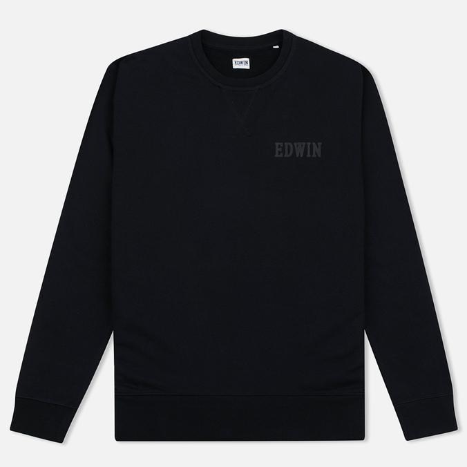 Edwin Classic Crew Logo Men's Sweatshirt Black