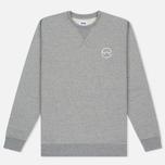 Мужская толстовка Edwin Classic Crew Sweat Logo 2 Grey Marl фото- 0