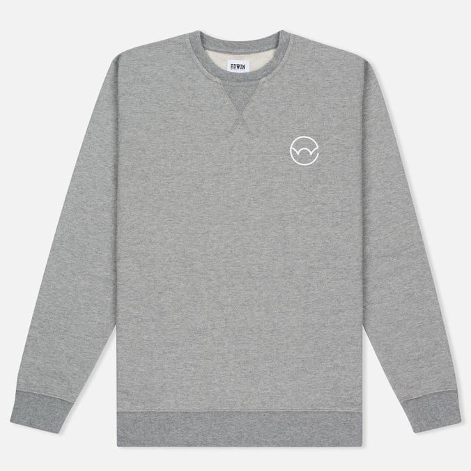 Мужская толстовка Edwin Classic Crew Sweat Logo 2 Grey Marl