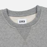 Мужская толстовка Edwin Classic Crew Sweat Logo 2 Grey Marl фото- 1