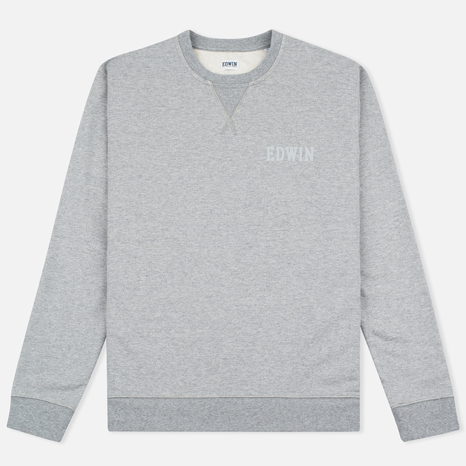 Мужская толстовка Edwin Classic Logo Crew Grey Marl