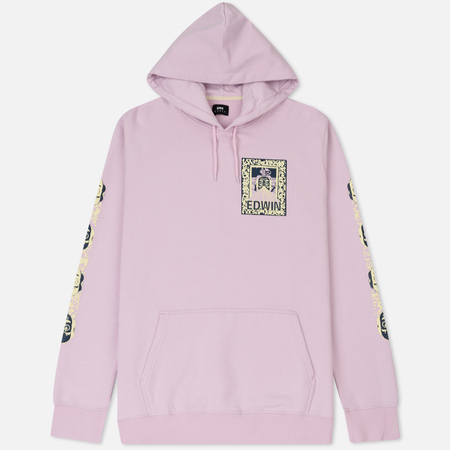 Мужская толстовка Edwin Erotic Hoodie Pink Garment Washed