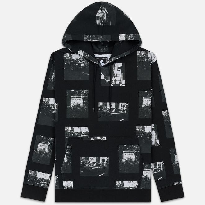Мужская толстовка Edwin Garment Wash Hoodie Tokyo Collage Black/Grey