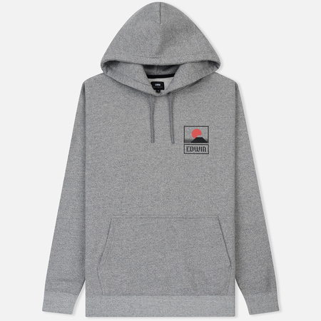 Мужская толстовка Edwin Sunset On Mount Fuji Hoodie Mouline Grey