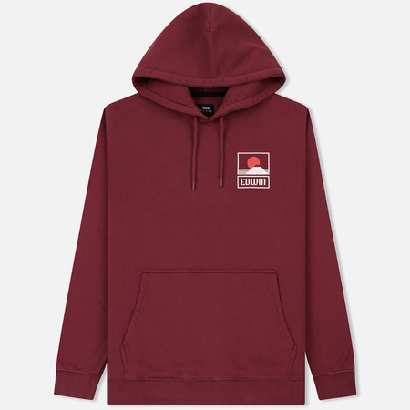 Мужская толстовка Edwin Sunset On Mount Fuji Hoodie Oxblood Red