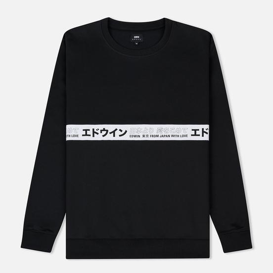 Мужская толстовка Edwin Track Interlock Cotton Polyester Black