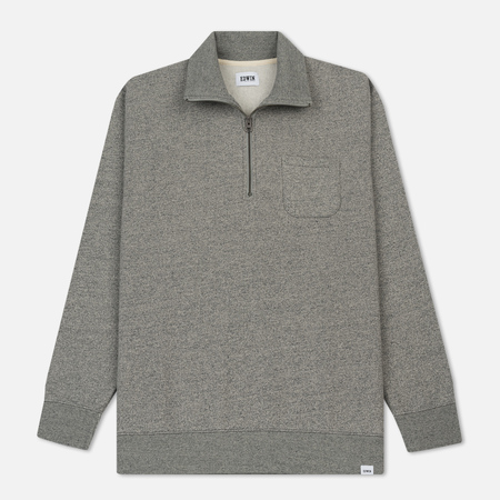 Мужская толстовка Edwin Warm Up Popover Heavy Felpa Mouline Grey