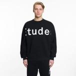 Мужская толстовка Etudes Color Etudes Logo Black фото- 4