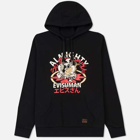 Мужская толстовка Evisu Almighty Evisuman Printed Hoodie Black