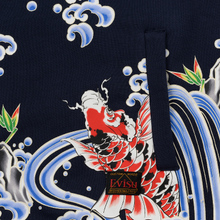 Мужская толстовка Evisu Carp All Over Printed Hoodie Dark Navy фото- 4