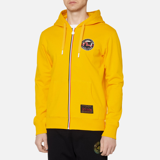 Мужская толстовка Evisu Evergreen Seagull Printed Zip-Up Hoodie Fusion Yellow