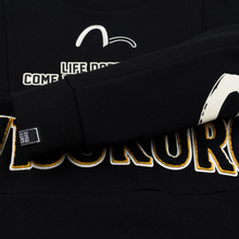 Мужская толстовка Evisu Evisukuro EK Reworked Side Zipper Black фото- 4
