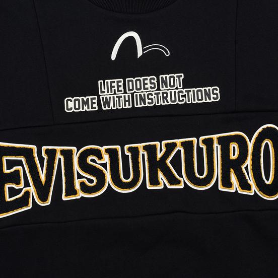 Мужская толстовка Evisu Evisukuro EK Reworked Side Zipper Black