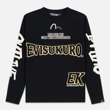 Мужская толстовка Evisu Evisukuro EK Reworked Side Zipper Black фото- 0