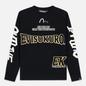 Мужская толстовка Evisu Evisukuro EK Reworked Side Zipper Black фото - 0