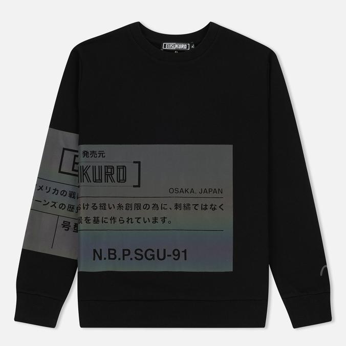 Мужская толстовка Evisu Evisukuro Label Black