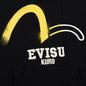 Мужская толстовка Evisu Evisukuro Reworked Second Hand Style Hoodie Black фото - 2