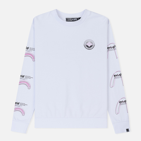 Мужская толстовка Evisu Evisukuro Triple Evi-Shield With Seagull Bright White