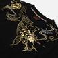 Мужская толстовка Evisu Heritage Carp & Wave Pattern Foil Printed Black фото - 1