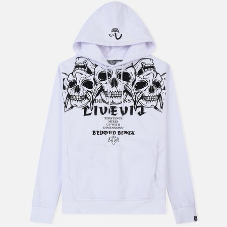 Мужская толстовка Evisu Printed Five Hannya Hoodie Bright White