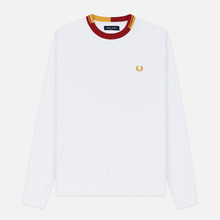 Мужская толстовка Fred Perry Abstract Crew Neck White фото- 0
