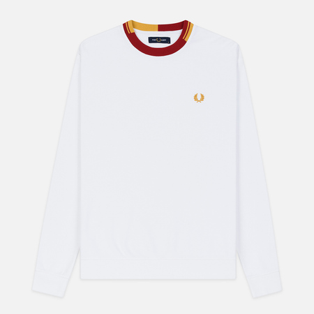 Мужская толстовка Fred Perry Abstract Crew Neck White